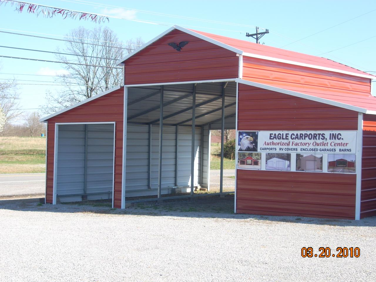 Tim ashby wholesale carports garages horse barns for Cheap barn kits